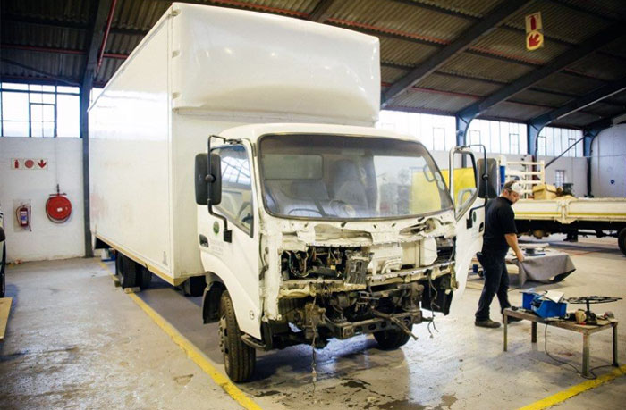truck repairs and body work, panel beating and spray painting, accident repairs, chassis repairs